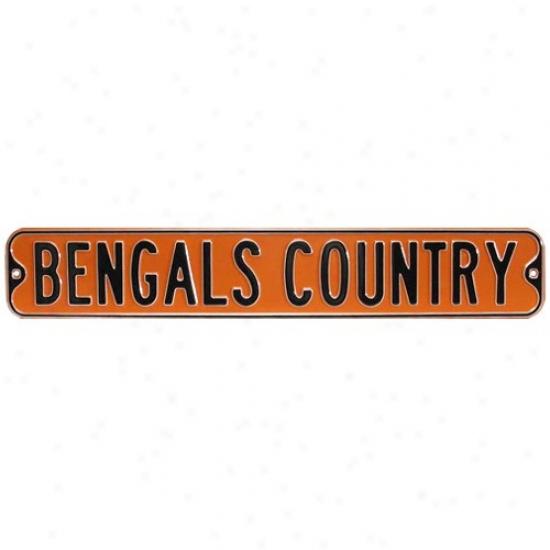Cincinnati Bengals Nfl Steel Street Sign