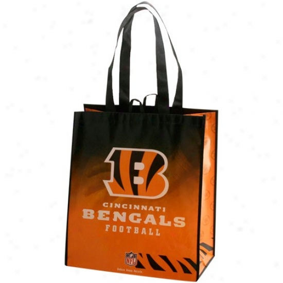Cincinnati Bengals Orange-black Fade Reusable Toye Bag