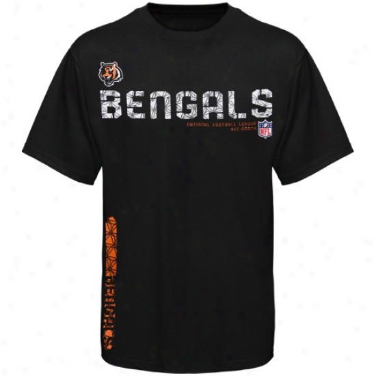 Cincinnati Bengals Shirt : Reebok Cincinnati Bengals Youth Black Sideline Tacon Shirt
