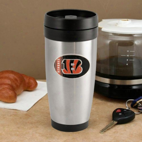 Cincinnati Bengals Stainless Steel Team Logo Travel Tumbler