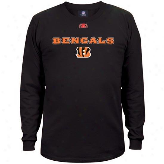 Cincinnati Bengals T Shirt : Cincinnati Bengals Black Critical Victory Iiu Long Sleeve T Shirt
