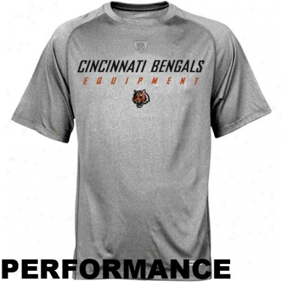 Cincinnati Bengals T-shirt : Reebok Nfl Equipment Cincinnati Bengals Ash Equipspeed Performance T-shirt