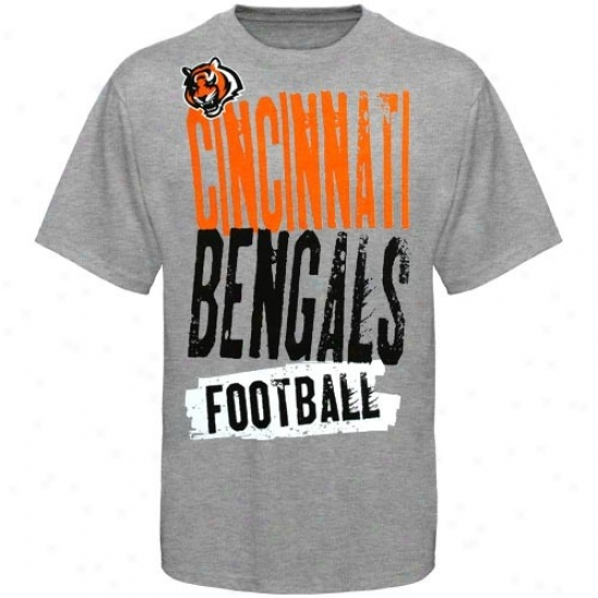 Cinciinnati Bengals Tees : Reebok Cincinnati Bengals Youth Ash Team Ornament Tees