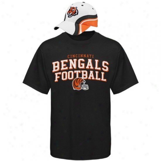 Cincinnati Bengals Tees : Reebok Cincinnati Bengals Rivalry Hat & Tees Combo Set