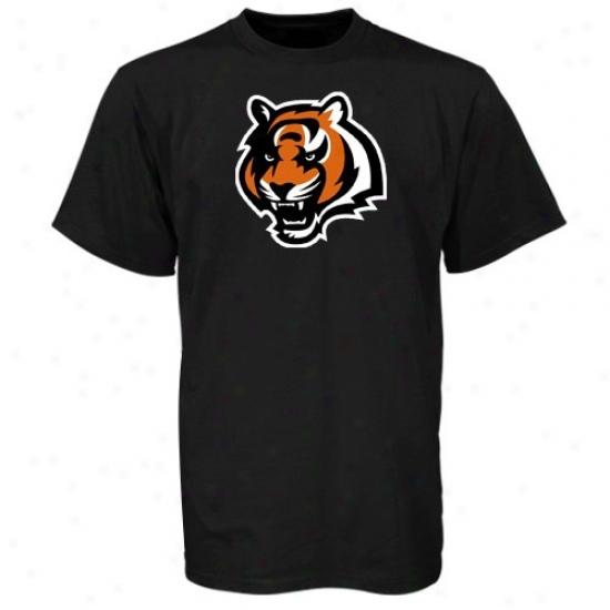 Cincinnati Bengals Tshirts : Reebok Cincinnati Bengals Youth Black Team Logo Tshirts