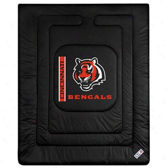 Cincinnati Bengals Twin Size Locker Room Comforter