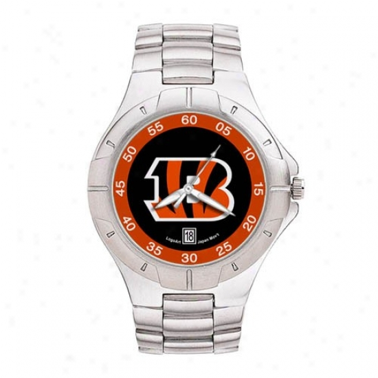 Cincinnati Bengals Watches : Cincinnati Bengals Men's Pro Ii Watches W/stainless Steel Band