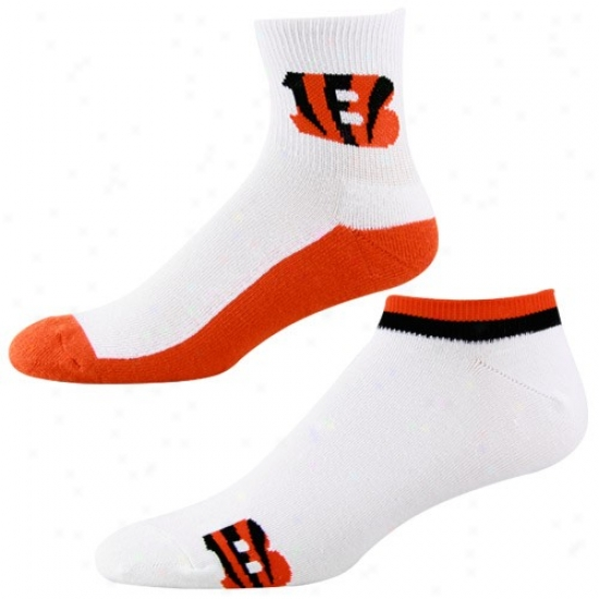 Cincinnait Bengals White-orange Two-pack Socks