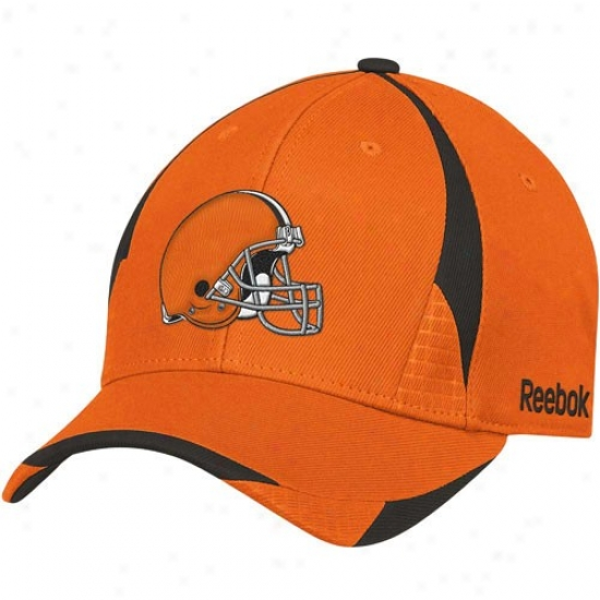 Cleveland Brown Caps : Reebok Cleveland Brown Pro Shape Structured Flex Fit Caps