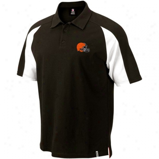 Cleveland Brown Clothes: Reebok Cleveland Brown Brown Stealth Pique Polo