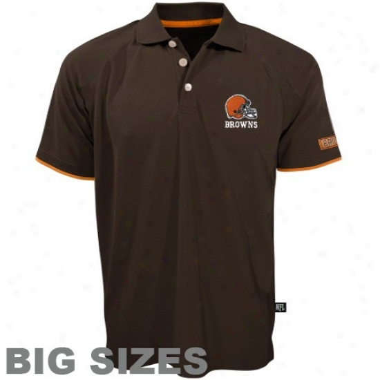 Cleveland Brown Clothing: Clevelanc Brown Brown Spiral Pass Big Sizes Polo