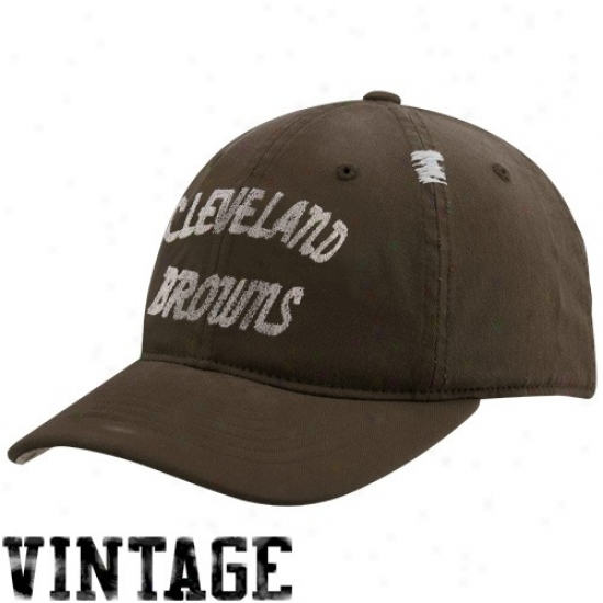 Cleveland Brown Hat : Reebok Cleveland Brown Brown Vintage Flex Slouch Hat
