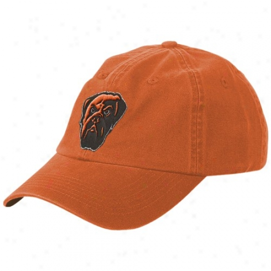 Cleveland Brown Hat : Reebok Cleveland Brown Orange Youth Basic Logo Slouch Hat