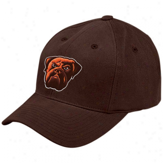 Cleveland Brown Hats : Reebok Cleveland Brown Brrown Youth Basic Logo Brushed Cotton Hats