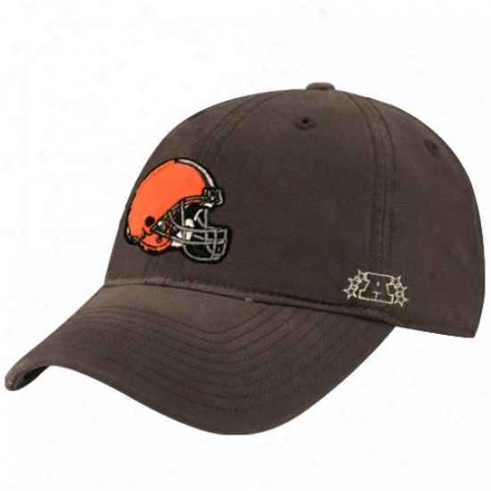 Cleveland Brown Hats : Reebok Cleveland Brown Brown Distressed Slouch Hats