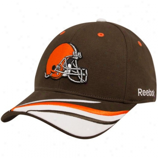 Cleveland Brown Hats : Reebok Cleveland Brown Brown Collage Adjustable Hats