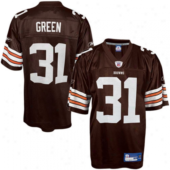Clevelanr Brown Jeresys : Reebok Nfl Equipment Cleveland Brown #31 William Green Brown Replica Football Jerseys