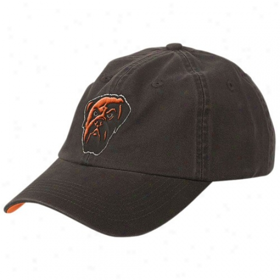 Cleveland Brown Merchandise: Reebok Cleveland Brown Youth Brown Basic Logo Slouch Hat