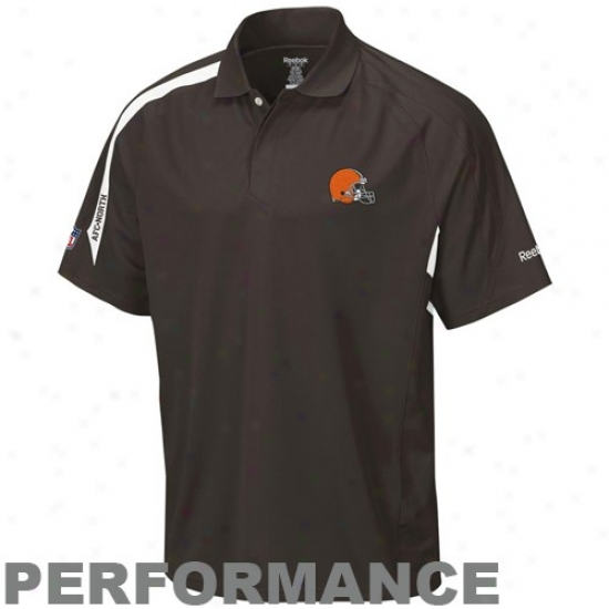Cleveland Brown Polos : Reebok Cleveland Brown Brown Contact Performance Polos