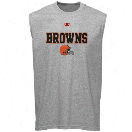 Cleveland Brown Shirt : Cleveland Brown Ash Critical Victory Sleeveless Shirt