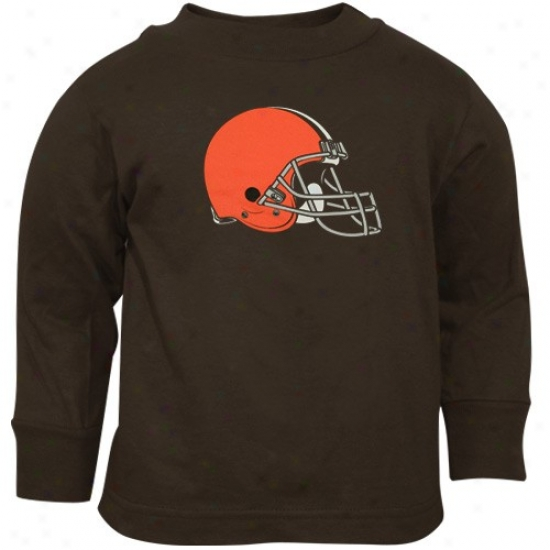 Cleveland Brown Shirts : Reebok Cleveland Brown Toddler Brown Elementary Logo Long Sleeve Shirts