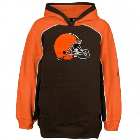 Cleveland Brown Stuff: Reebok Cleveland Brown Brown Franchise Hoody Sweatshirt