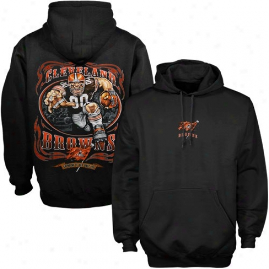 Cleveland Brown Sweat Shirt : Cleveland Brown Black Running Back Labor Shirt