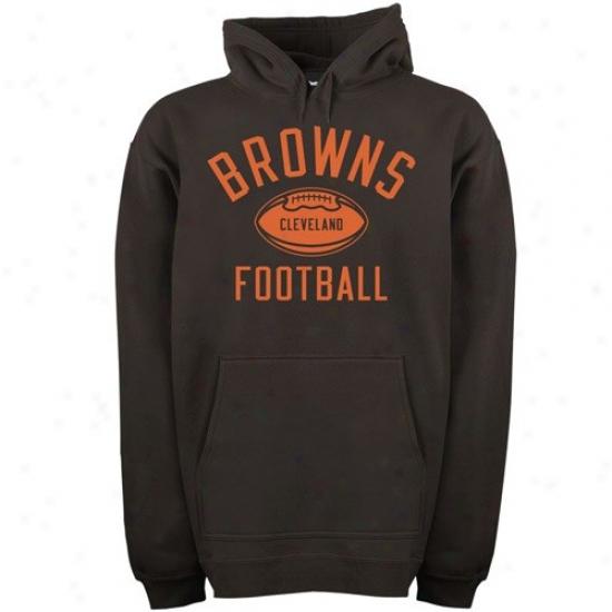 Cleveland Brown Sweat Shirt : Reebok Cleveland Brown Brown Work Out Sweat Shirt