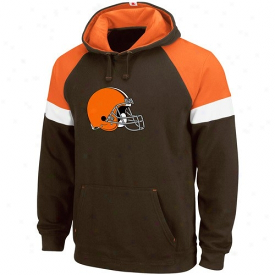 Cleveland Brown Sweat Shtts : Cleveland Brown Brown Passing Game Sweat Shirys
