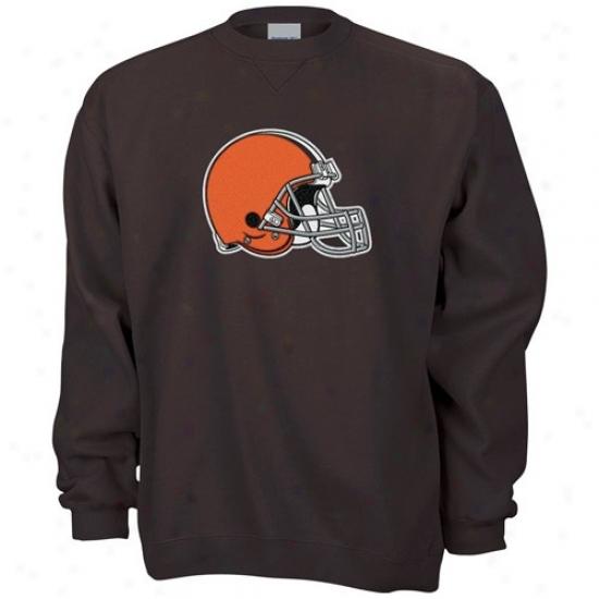 Cleveland Brown Sweatshirt : Reebok Cleveland Brown Brown Logo Premier Sweatsihrt