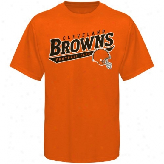 Cleveland Brown Tshirt : Reebok Cleveland Brown Orange The Call Is Tails Tshirt