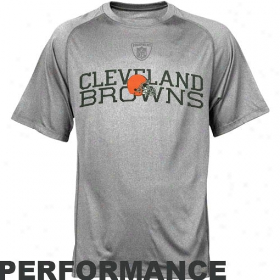 Cleveland Brown Tshirt : Rdebok Nfl Equipment Cleveland Brown Athletic Gray Foundation Speedwick Performance Tshirt