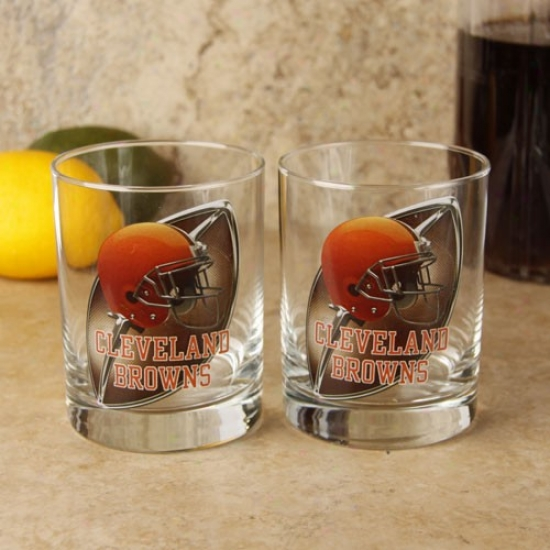 Cleveland Browns 2-pack Enhanced Abstruse Definition Executive Glass Set