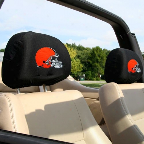 Cleveland Browns 2-pack Headrest Covers