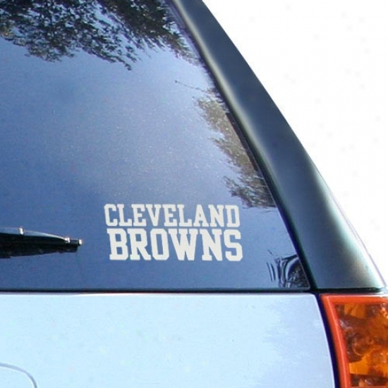Cleveland Browns 5'' X 6'' Silver Window Graphic Decal