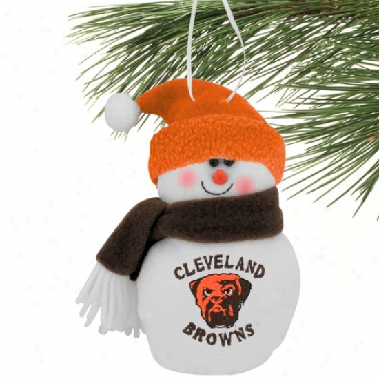 Cleveland Browns 6'' Plush Snowman Ornament