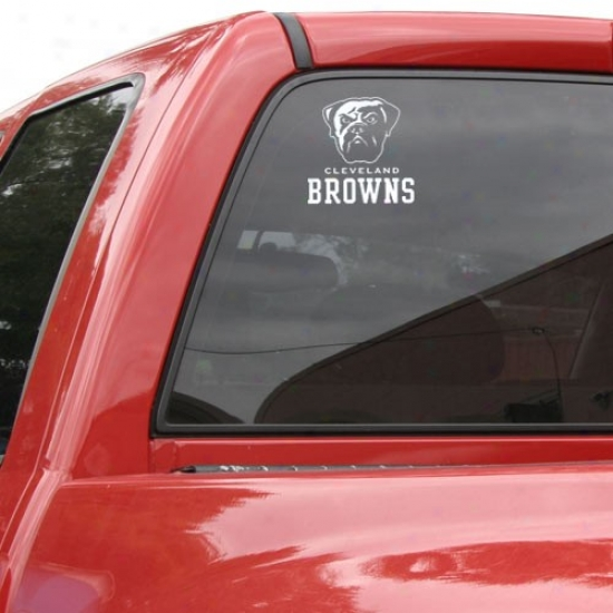 """cleveland Browns 8""""x8"""" White Decal Logo"""