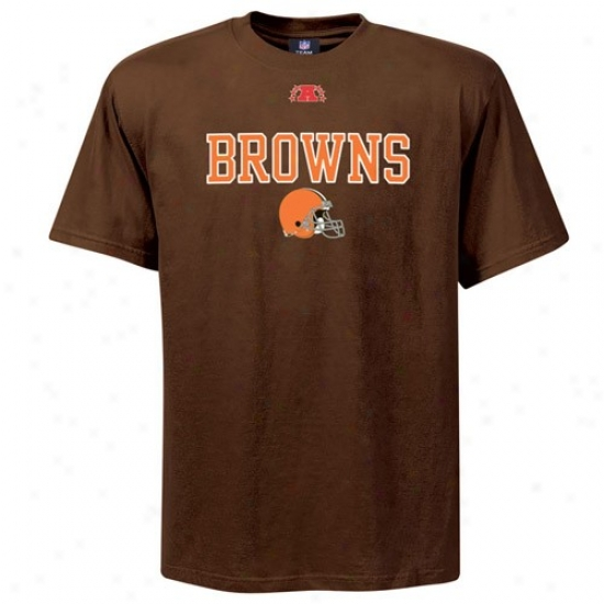Cleveland Browns Apparel: Cleveland Browns Brown Critical Conquest Iii T-shirt