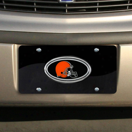 Cleveland Browns Black-charcoal Two-toned Acrylic License Plate