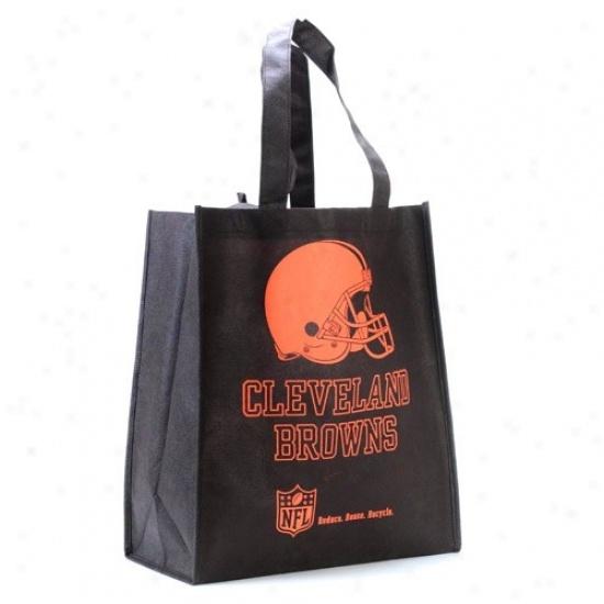 Cleveland Browns Black Reusable Tote Bag
