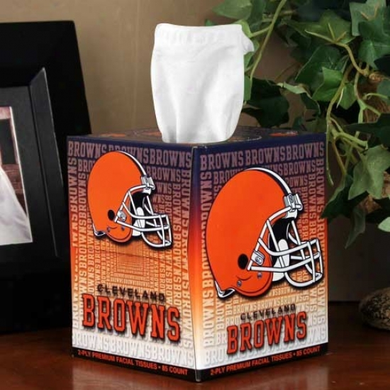 Cleveland Browns Box Of Sports Tissues
