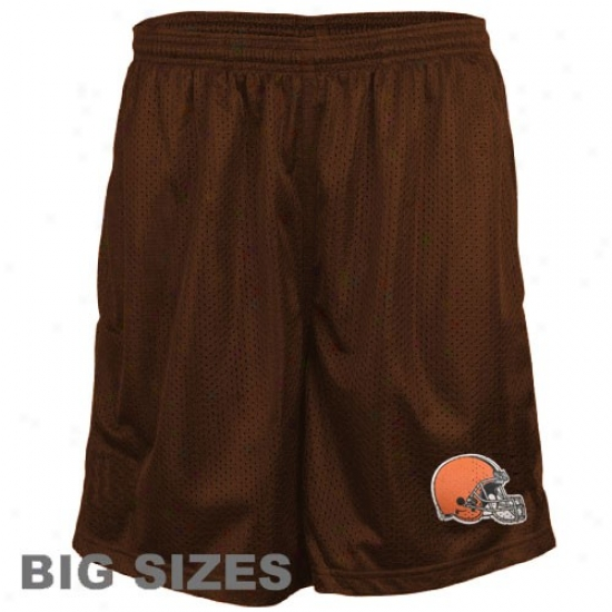 Cleveland Browns Brown Big Sizes Team Logo Mesh Shorts