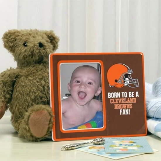 Cleveland Browns Brown Born To Be Ceramic Picture Frame