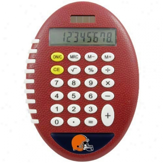 Cleveland Browns Brown Football Pro-grip Calculator