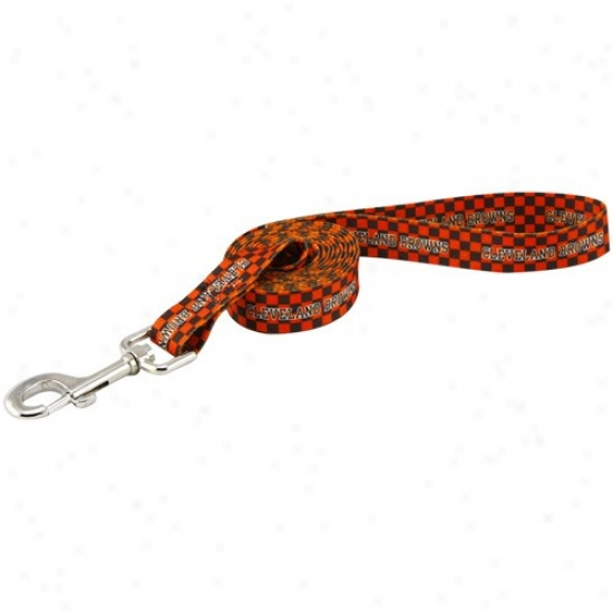 Cleveland Browns Brown-orange Ladge Pet Leash