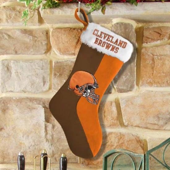Cleveland Browns Brown-orange Plush Stocking