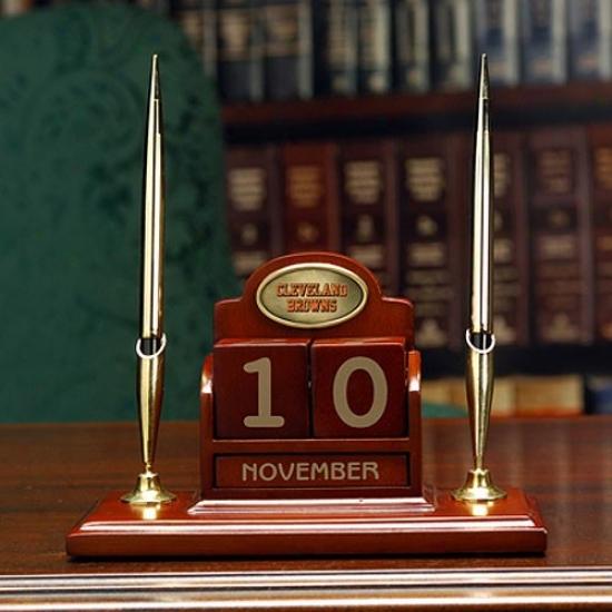 Cleveland Browns Calendar Desk Set