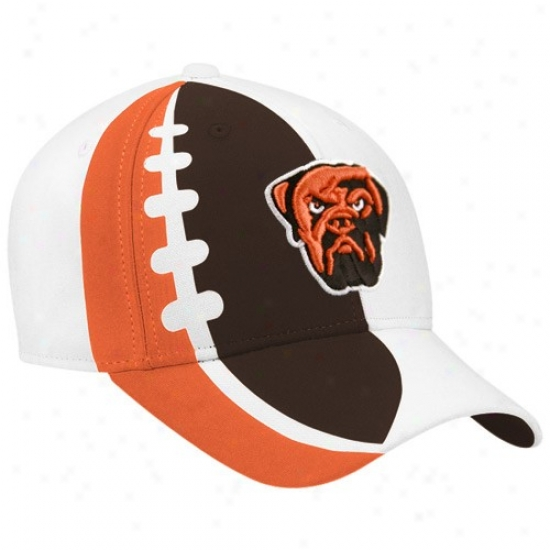 Cleveland Browns Cap : Reebok Cleveland Browns Youth White Waterjet Adjustable Cap