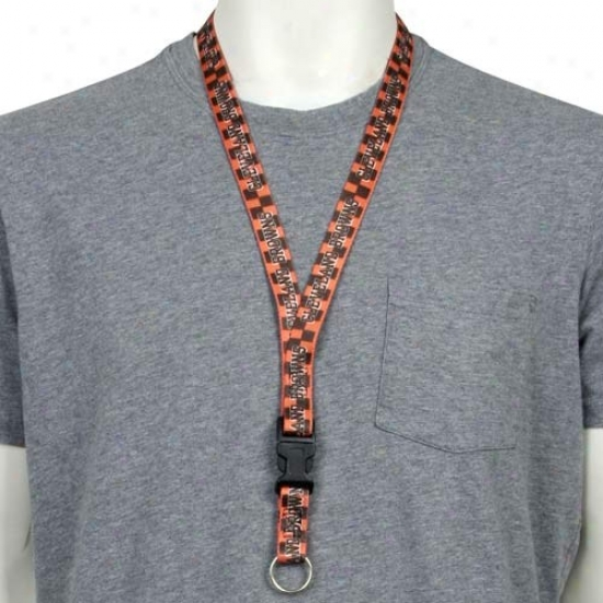 Cleveland Browns Cbeckered Lanyard