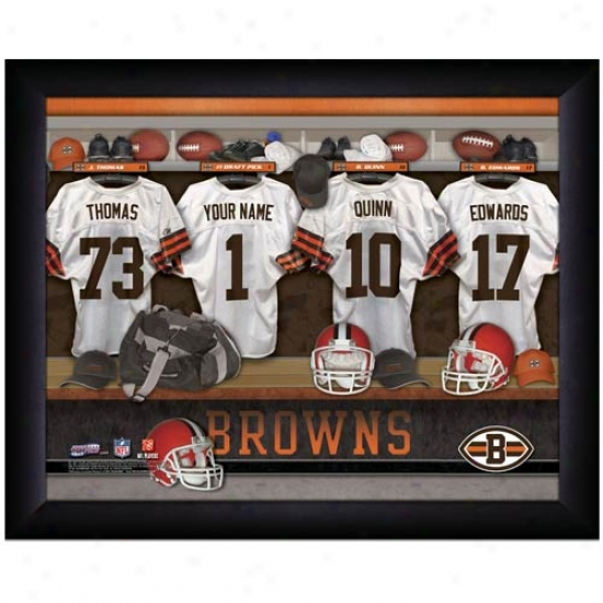 Cleveland Browns Customize Locker Room Black Framed Photo